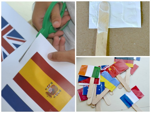 Celebrate the Olympics with a flag festival! {+printable flag template}