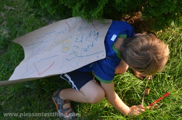 Backyard superhero: pretend play with animal rescue missions