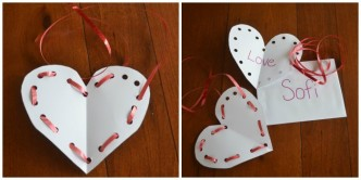 Lacing Toy Valentine's Day Card