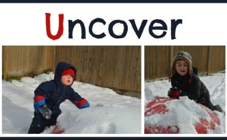 Uncover objects in snow