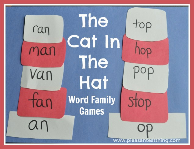 Word Family Hats with The Cat In The Hat - The Pleasantest Thing