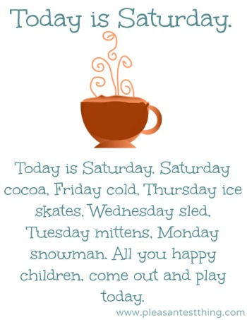 children's winter song: Today is Monday
