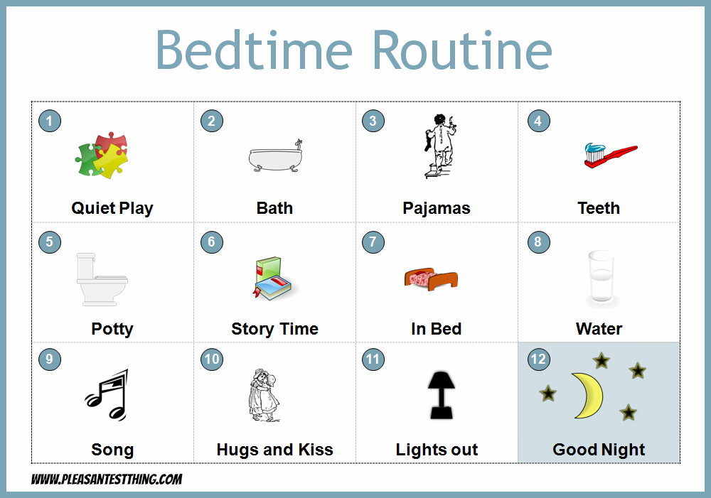 Bedtime Routine Chart The Pleasantest Thing