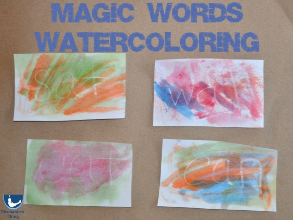 Early reading sight words activity using watercolors