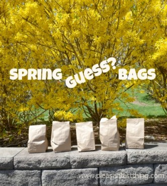 Touch of Spring Guess Bags: Focus on the sense of touch, using spring time items