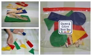 Shapes and Colors Busy Bag
