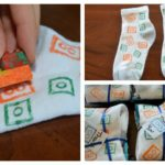 LEGO printed fabric - fun favor for a LEGO party
