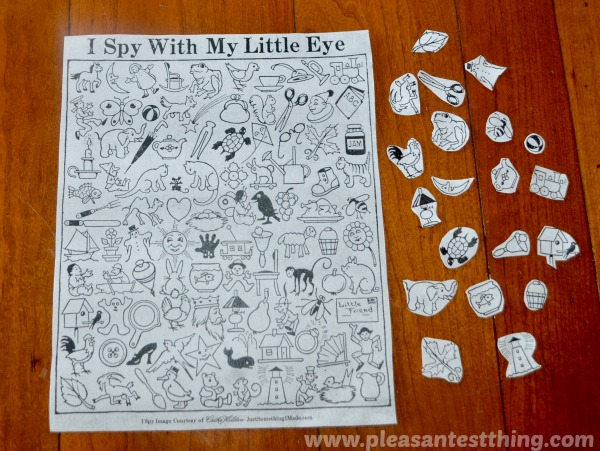 "Search and  Find game with ""I Spy"" printable"