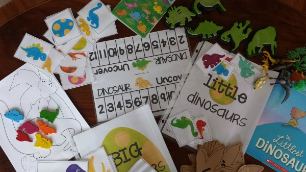 Dinosaur playdate ideas: art, game, and reading ideas