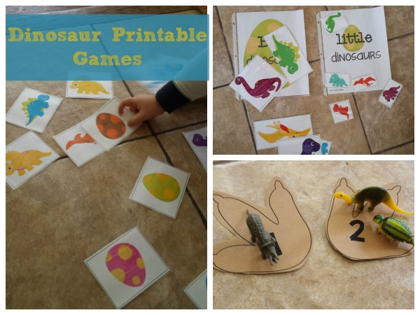 Dinosaur play date! Art, games, and a book!