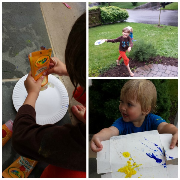 Rain Painting: Turn a rainy afternoon into a creative adventure