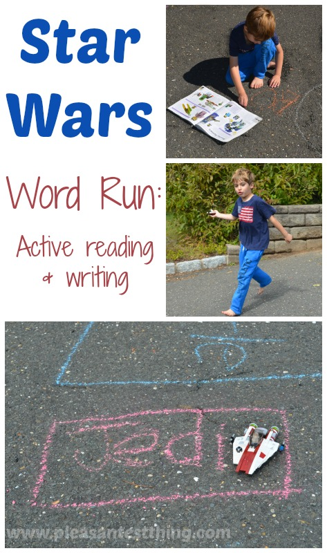 Star Wars Word Run: A Star Wars inspired, active game focusing on reading and writing
