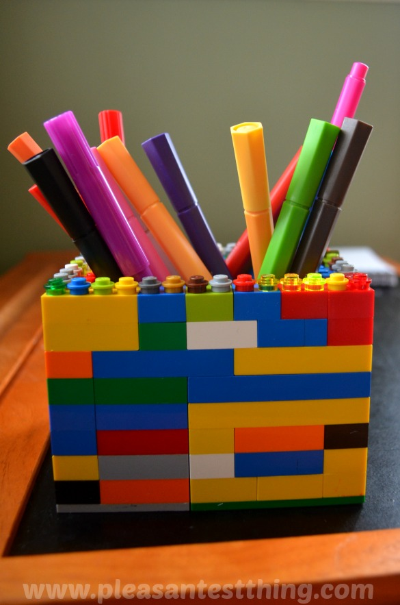 Make Your Own Lego Pencil Holder Simple Play Ideas