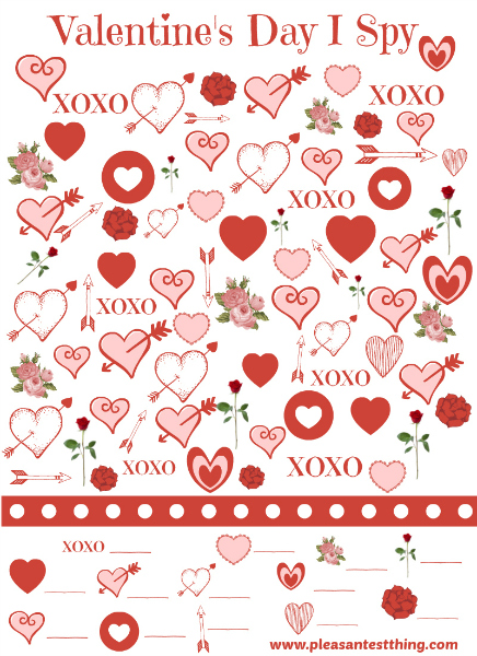 Schön Free Printable Valentineu0027s Day I Spy Game   Slip One Into Your Valentines!