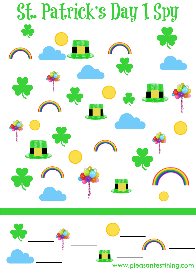 photograph relating to St Patricks Day Printable known as St. Patricks Working day Printable I Spy Sport