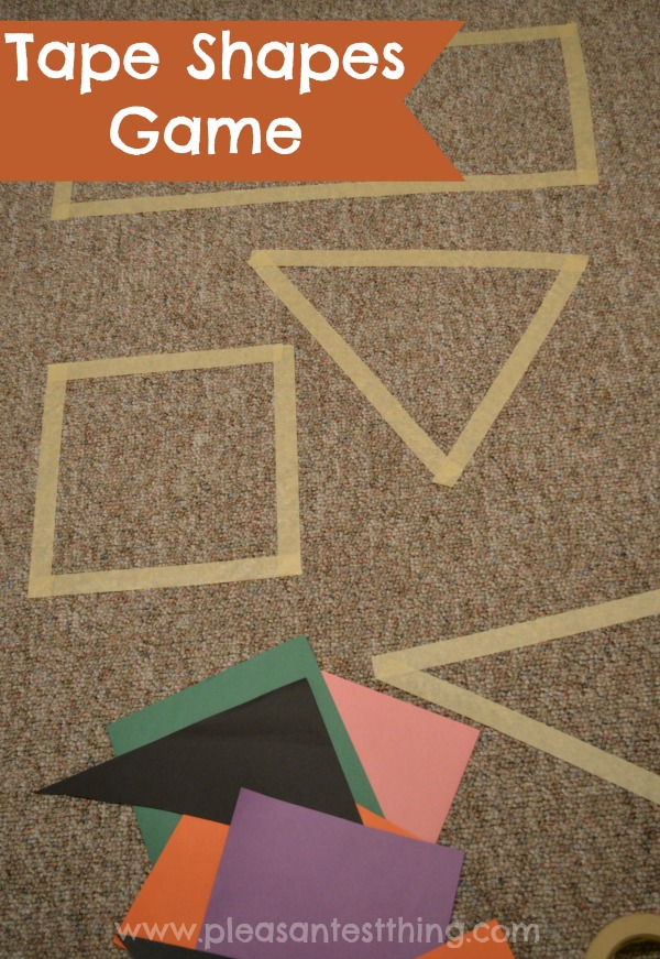 Tape Shapes Game Simple Play Ideas