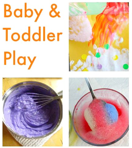 Ideas perfect for your baby and toddler! Fun activities to try with your zero to two year old.