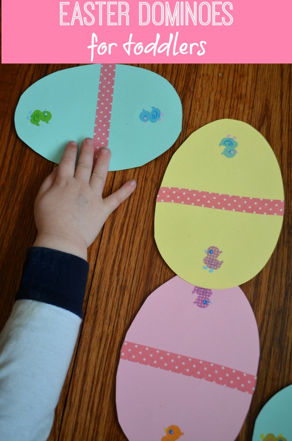Easter Egg Dominoes: a fun Easter game to make yourself