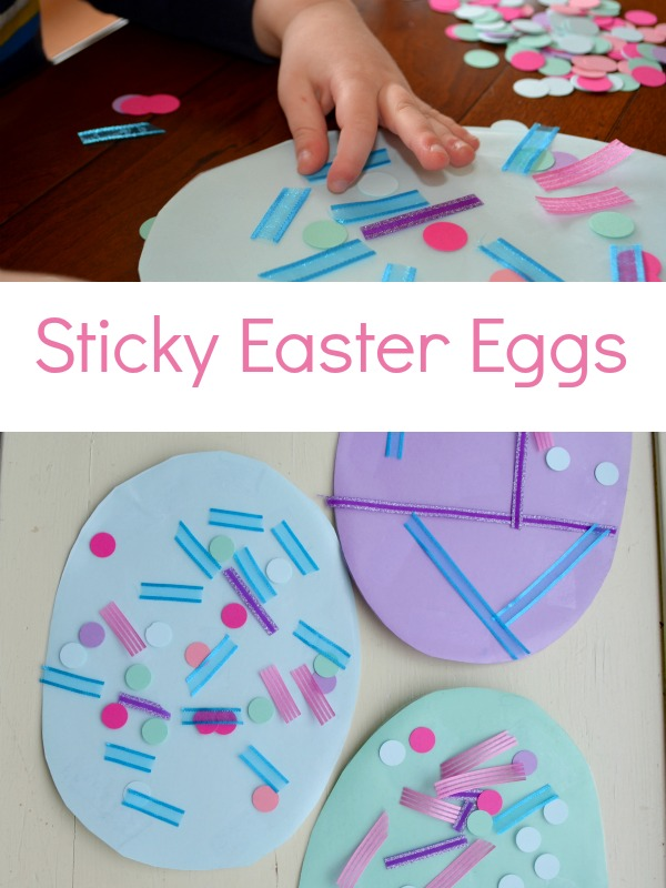 Sticky Easter Egg Craft for toddlers