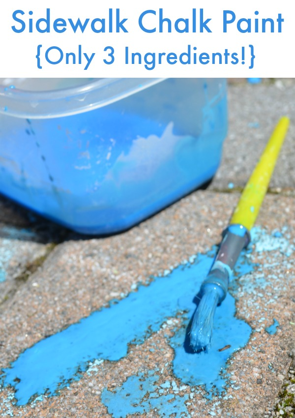 Recipe for home-made sidewalk chalk paint - perfect idea for many crafts and summer projects.
