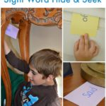 Sight Word hide & seek: a game to move and learn