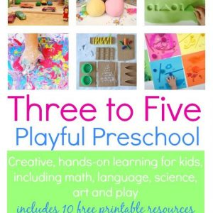 Playful Preschool - learning through play for 3-5 year olds