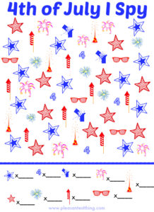 4th of July I Spy Game {Free Printable!}