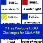 LEGO challenges for Summer! 9 free printable challenges!