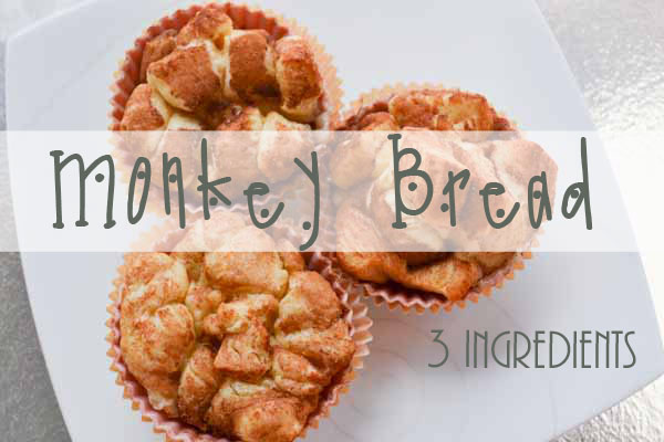 Monkey bread - 3 ingredients and FUN for kids to make!
