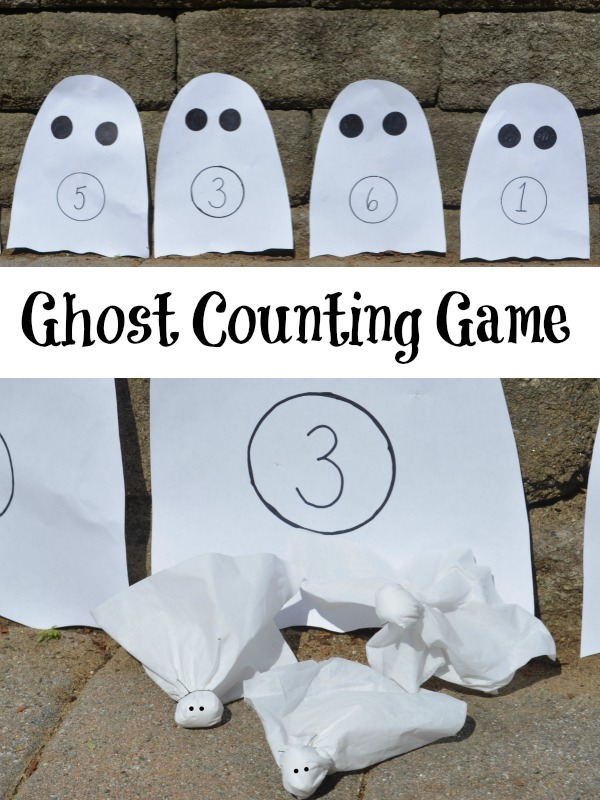 Ghost Counting Game: An active Halloween game to practice numbers!