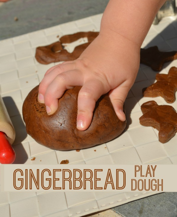 Make Gingerbread Play Dough! Smells delicious!