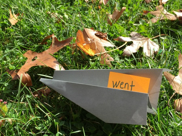 """Paper Airplanes game with Sight word """"pilots"""" - fun way to learn!"""