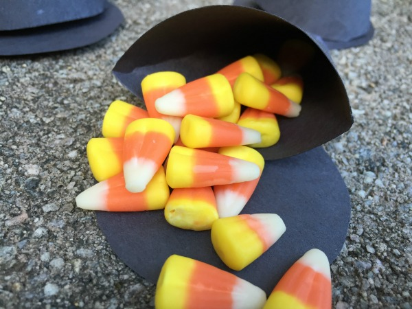 Witch Hat Halloween Treat Cone - perfect for a Halloween party!