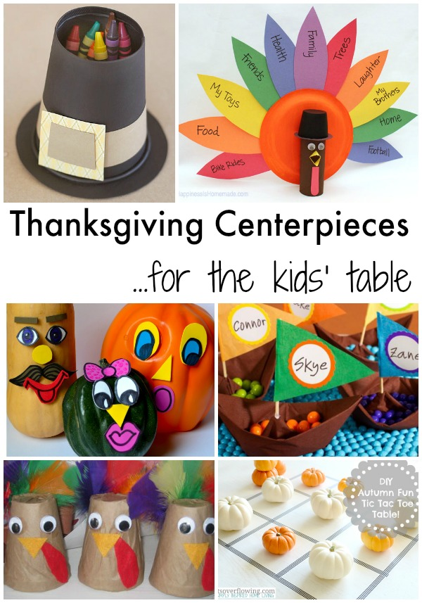 Thanksgiving centerpieces for the kids table