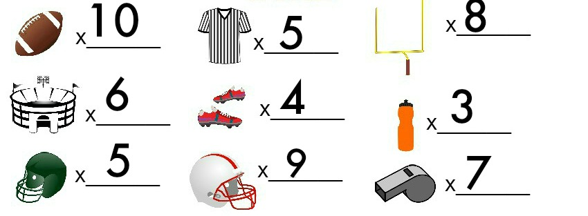 football I Spy answer key