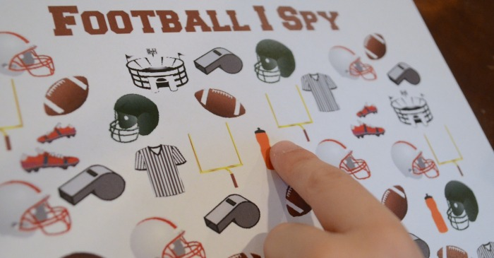 Print Football I Spy Game! Fun for football fans!
