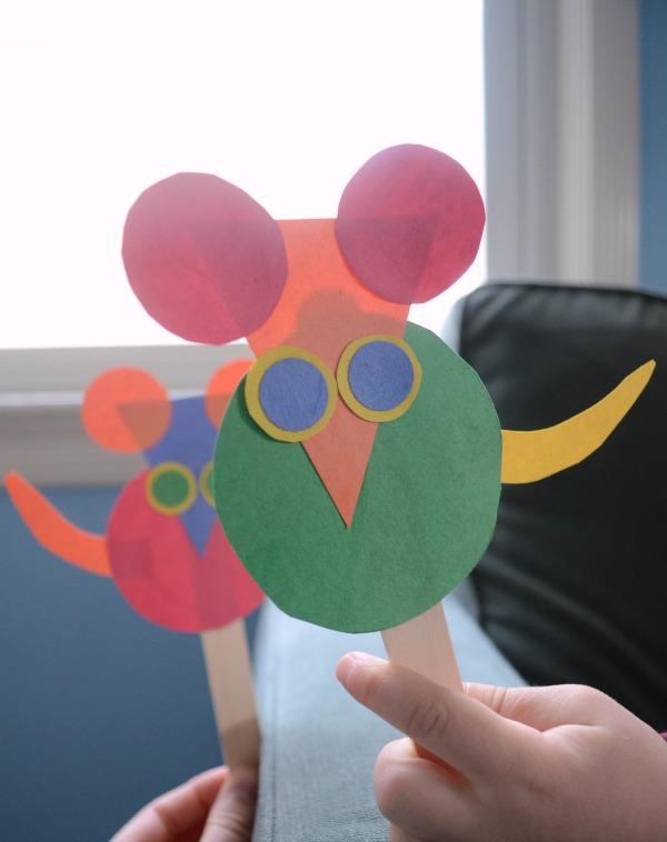 Mouse Shape Puppets by The Pleasantest Thing