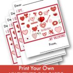Free printable Valentine's Day Card for kids - I Spy My Valentine!