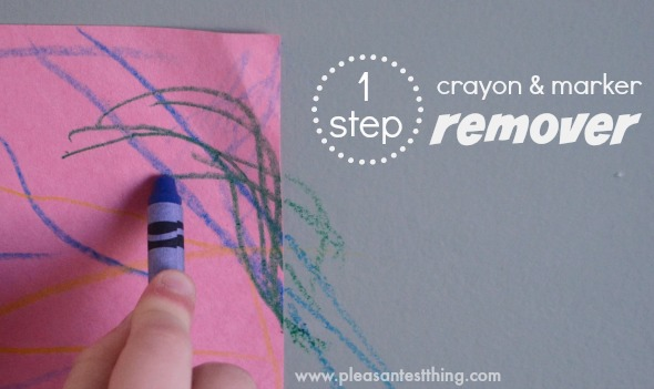 1 step to remove marks from crayons and permanent markers! *doesn't take off paint or finish!