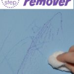 EASY crayon and marker removal - removes marks from non washable crayons and markers *without hurting the finish!