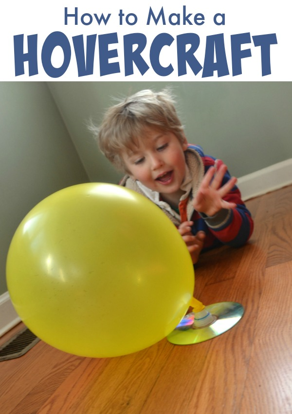 Make Your Own Hovercraft! This is a pefect science experiment for a rainy day!