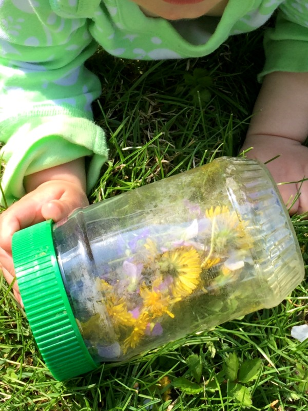 Baby Sensory Bottle for spring! Add some wildflowers!