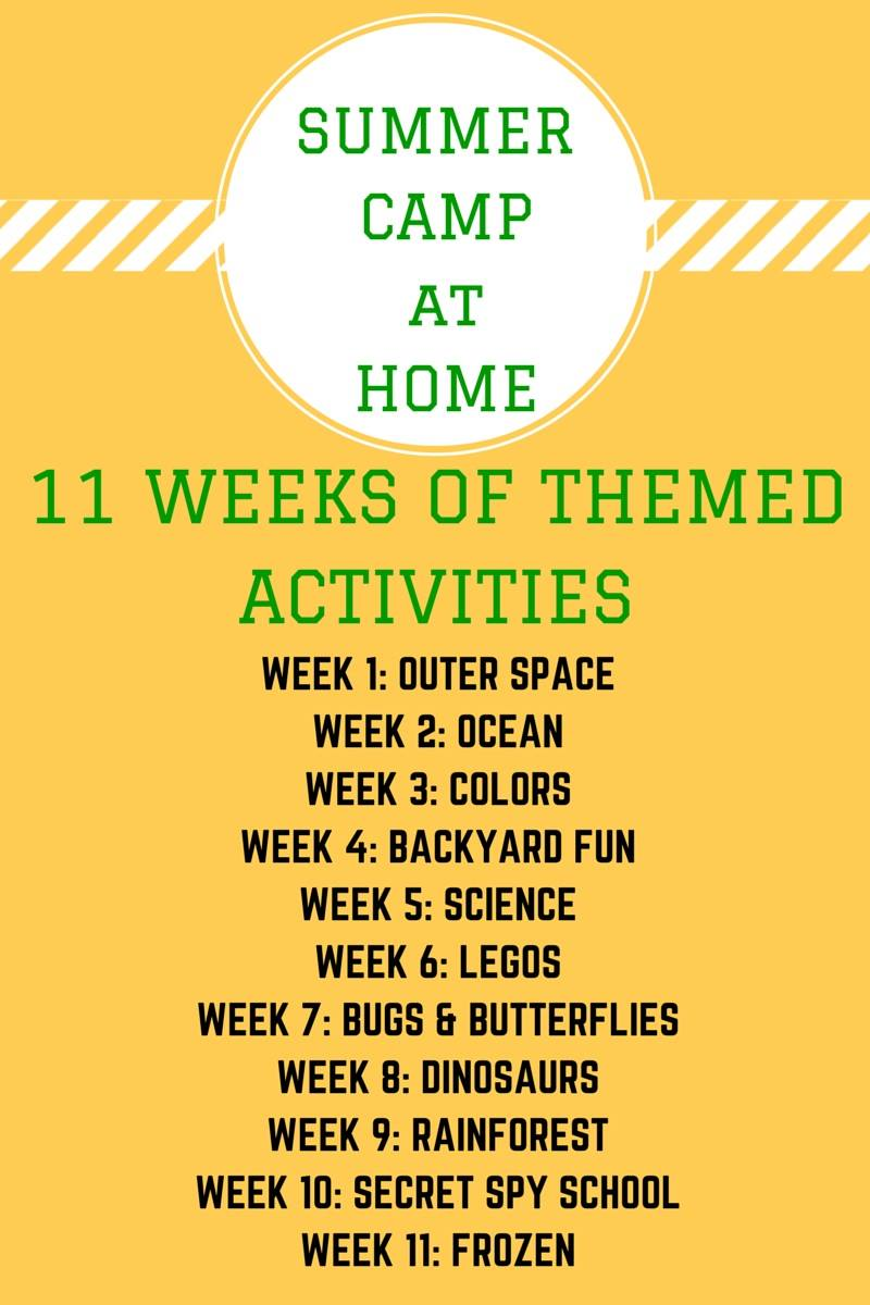Backyard Camp Ideas! Ideas to fill 11 weeks!