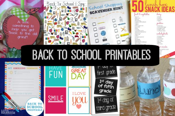 Get set for this school year with these free Back to School printables!