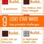 Print out Lego challenges perfect for Star Wars Fan! 9 Free printable challenges!