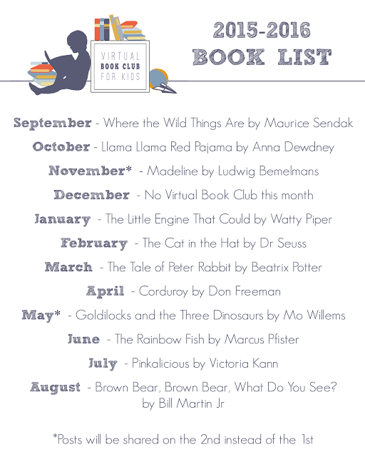 Monthly virtual book club for kids list