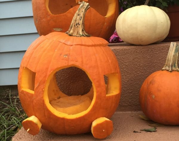 How to carve your own Cinderella carriage jack o'lantern