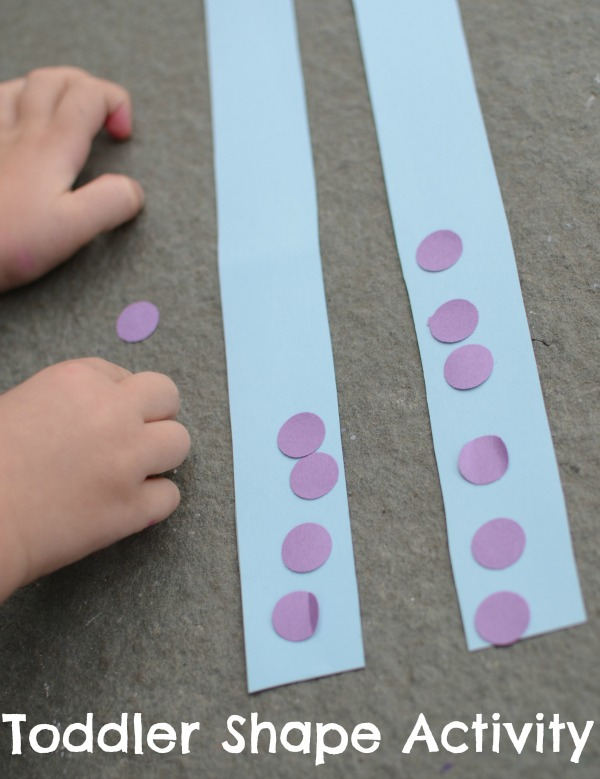 Fun shape activity for toddlers and preschoolers!
