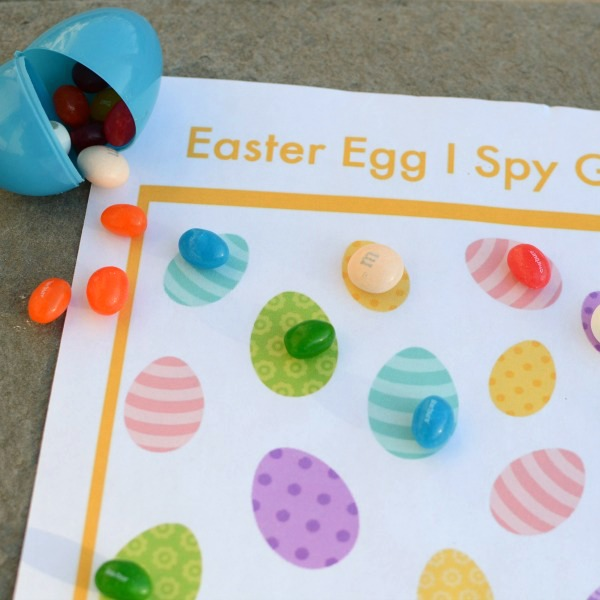 Print and play this Easter Egg I Spy game for kids!