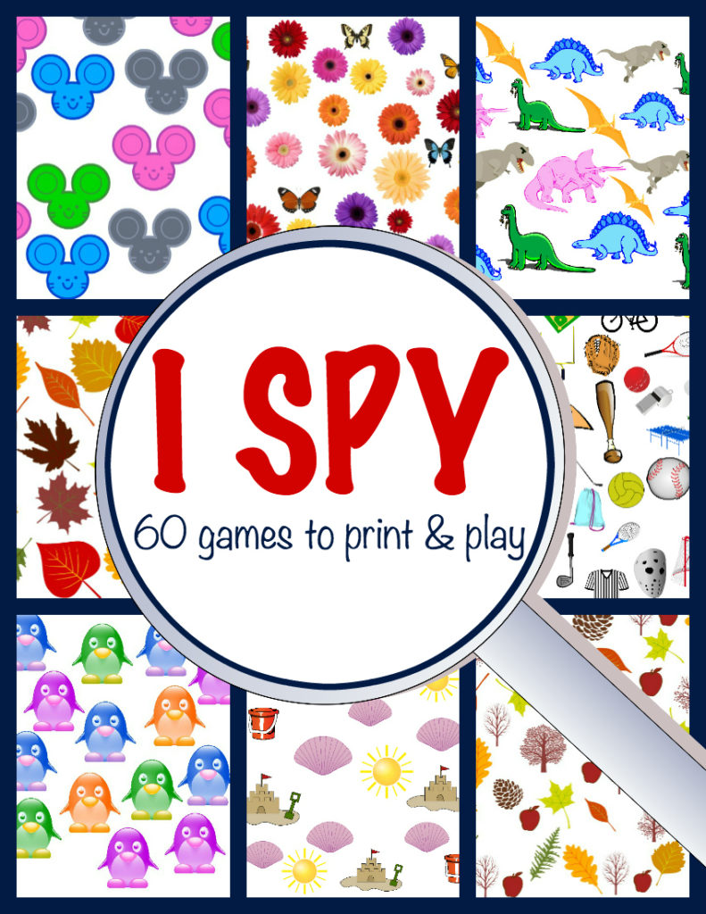 print and play 60 I Spy games in this I Spy ebook!